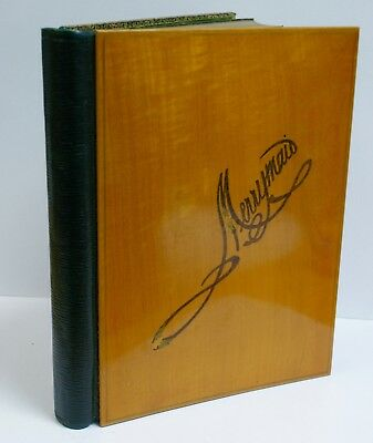 "Superb Edwardian Sketchbook, Gilt Leather, Inlaid Wood Cover ""Merrymaid"", Unused"
