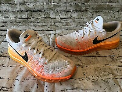 fee9cd1a1a65 Nike Men s Flyknit Max 620469-100 Size 12 Total Orange