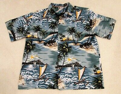 15c7fbe8 Vintage Aloha Republic Xxl 2Xl Mens Hawaiian Bahama Panama Shirt*Made Hawaii  Usa