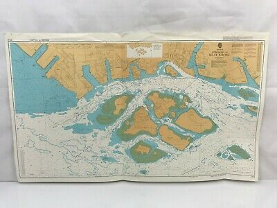 Admiralty Chart Nautical Map Singapore Approaches to Selat Jurong 2014 1986