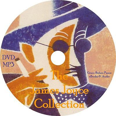 James Joyce Audio Book Collection on 1 MP3 DVD Dubliners Ulysses Man FREE SHIP