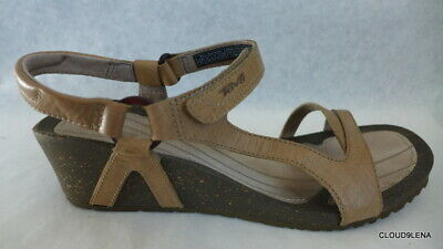 ce949c6a2631 TEVA Womens CABRILLO Tan Leather Ankle Strap Wedge Sandals 11 US  42 EUR
