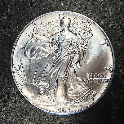 1988 Uncirculated American Silver Eagle US Mint Issue 1oz Pure Silver #E632