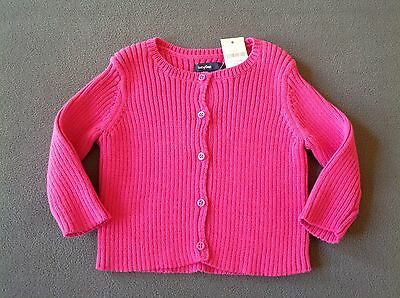 2988f184612 NWT BABY GAP Baby Girls Ribbed Cardigan Sweater Size 6-12 Months ~ Pink