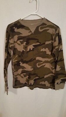 49d5e976 FADED GLORY BOYS XL 14-16 Green Camo Crewneck Thermal Top - $2.75 ...