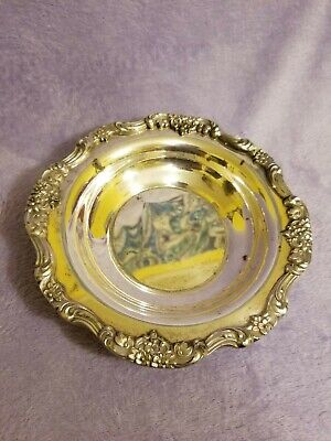 "LANCASTER ROSE EPCA Silverplate By POOLE 438 Serving tray/bowl app. 7"" diameter"
