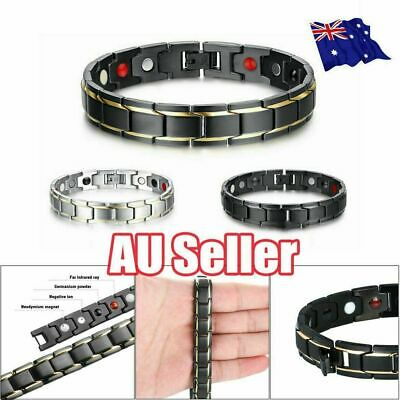 Therapeutic Energy Healing Bracelet Stainless Steel Magnetic Therapy Bracelet JL