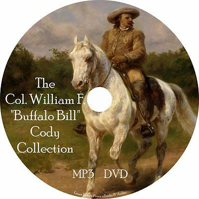 William Buffalo Bill Cody Audiobook Collection in English on 1 MP3 DVD Free Ship