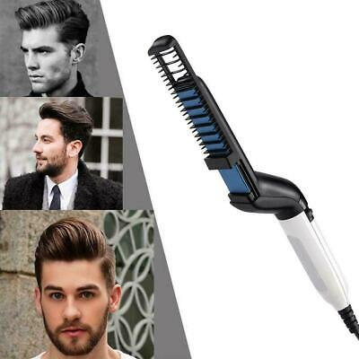 Quick Beard Straightener Multifunctional Hair Comb Curling Curler Show Cap Men R