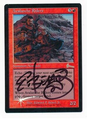 LP MTG Avalanche Riders Urza/'s Legacy Foil Signed by Edward beard Jr