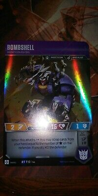 Transformers TCG Wave 2 RARE BOMBSHELL Decepticon Psy Ops RT T12 Rise Combiners