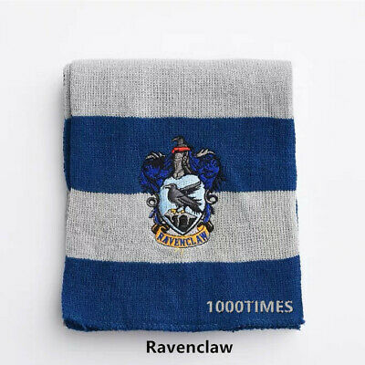 Harry Potter Ravenclaw House Cosplay Knit Wool Scarf Wrap Fashion Costume