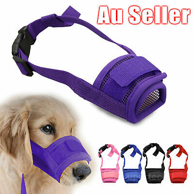 Dog Pet Puppy Muzzle Anti Stop Bite Bark Chewing Mask All Size Small/Large/L/XL
