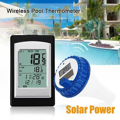 2019 newest 3 channel solar power wireless swimming pool floating thermometer