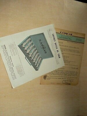 Prospectus Outil SAPRAR 4 CV Renault 1950 auto catalogue Brochure car Tools