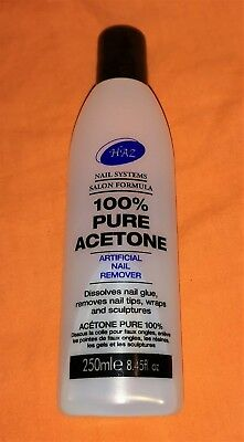 Haz 100% Pure Acetone Artificial Nail and Polish Remover 250ml