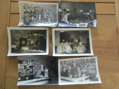 Lot 6X Photo Interieur Bistro 1950 Baby Foot Champigneulles Bar Cinzano