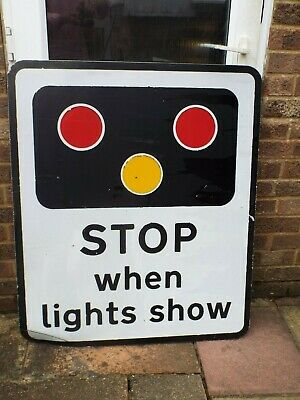 Rare Genuine Retired Level Crossing Railway Sign old  roadsign  Man Cave.