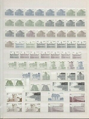 Ireland 1983 Architecture *super Collection On Page Inc High Values *vf Mnh*