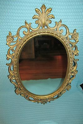 Vtg Large Ornate Wall Mirror~Hollywood Regency ~ Syroco 1967