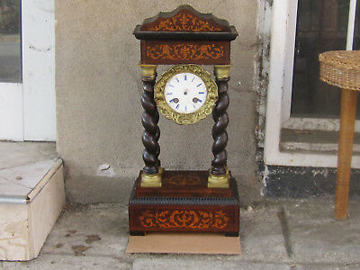Antique French Portico Clock Case, Bezel and Dial ONLY! -19C.