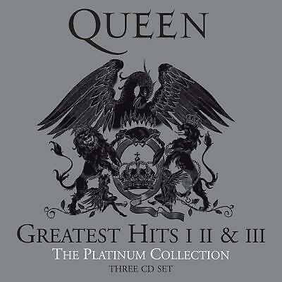 Queen Greatest Hits I II & III The Platinum Collection 3 CD Freddy Mercury Neuf