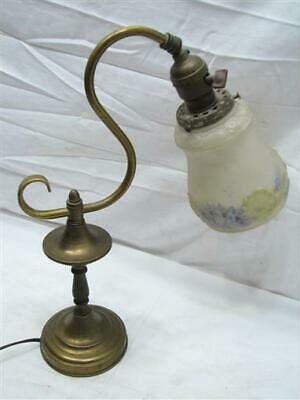 Brass Wall Sconce Lamp w/Frosted Glass Embossed Satin Acorn Shade Light Ornate