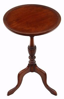 Antique quality Georgian reproduction mahogany wine table side 4840