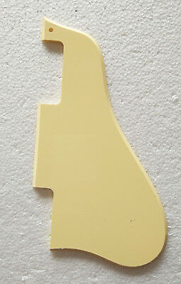 Fits Gibson ES335 Short Guitar PickGuard Scratch Plate , 1Ply Cream Yellow