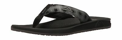 Reef Mens Phantm II Prts Flip-Flop, Black Plaid 4,  UK 7