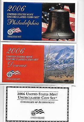 2006 P&D United States US Mint Uncirculated Coin Set