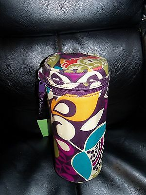 Vera Bradley Plum Crazy Baby Bottle/Water Bottle Caddy NEW LAST ONE