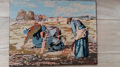 "Handworked completed  tapestry ""FIELD WORKERS"" 47cm x 35cm (approx 18""x14"")"