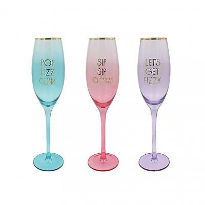 704a40d9a4f STEMLESS CHAMPAGNE FLUTE Novelty Coloured Party Prosecco Glass Gift ...