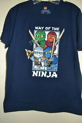 LEGO Ninja NWOT Boy/'s S M Ninjago Masters of Spinjitzu Long Sleeve T Shirt Top