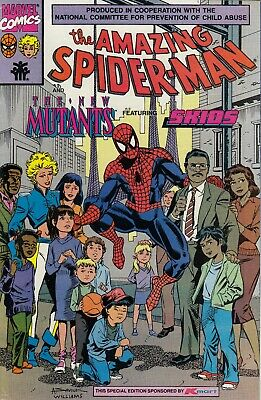 AMAZING SPIDERMAN AND THE NEW MUTANTS GIVEAWAY ..VF/NM...1990...Bargain!
