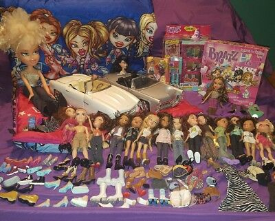 Bratz doll lot doll clothes accessories brushes shoes car sleeping bag fashion