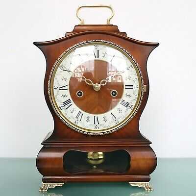 Dutch WARMINK Vintage Mantel Clock BIEDEMEIJER VERY RARE! HIGH GLOSS! BELL Chime