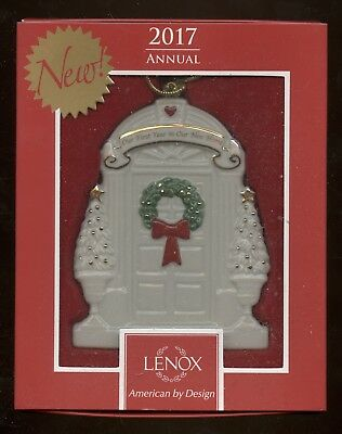"""Lenox Christmas Ornament, in box, """"Our First Year in Our New Home"""" (2017)"""