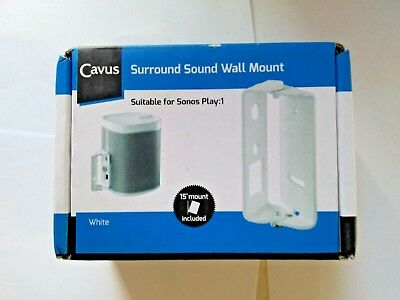 Cavus Surround Sound Tilt and Swivel Wall Mount - Wall bracket for Sonos Play1
