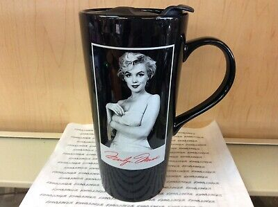 b35c33870cf Marilyn Monroe Travel Mug Vandor Black Mug With Plastic Lid New In Box