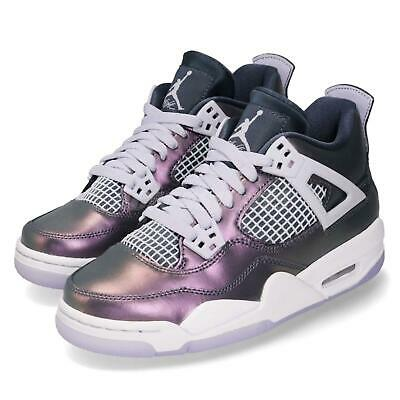1f840202b7d9 Nike Jordan 4 Retro GS IV AJ4 Monsoon Blue White Kid Women Shoes BQ9043-400