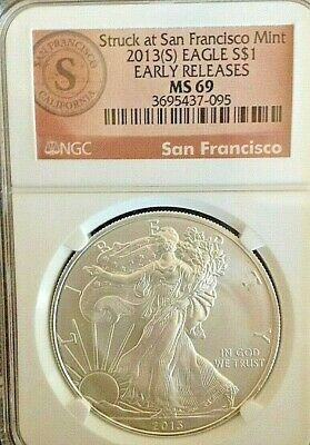2013-S Ngc Ms 69 Struck At San Francisco -Early Release -Free Shipping