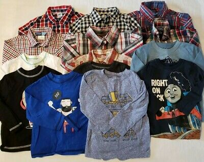 14 Boy's Size 18/24 Month & 24 Month Long Sleeve Shirts Chaps*Polo*Lucky