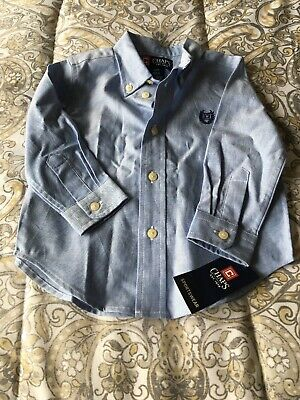 Ralph Lauren Chaps  Long Sleeve Button Down Shirt! 18 Months! New W/tags!  Blue!