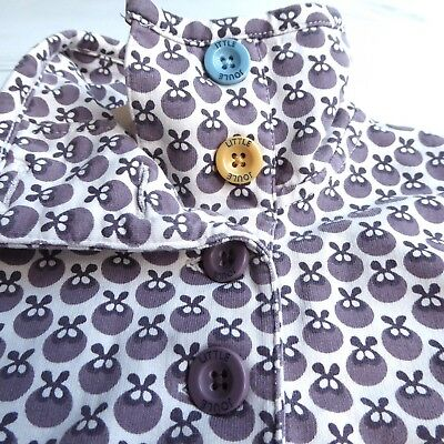 Girls JOULES Cowdray Sweatshirt Top Jumper Retro Print Fab Buttons Age 11 - 12