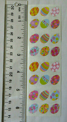 Mrs Grossman EASTER EGGS, SMALL - Strip of Decorated Easter Egg Stickers