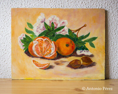 Oleo sobre tabla. Naranjas / Oil Painting on Board. SL. Oranges