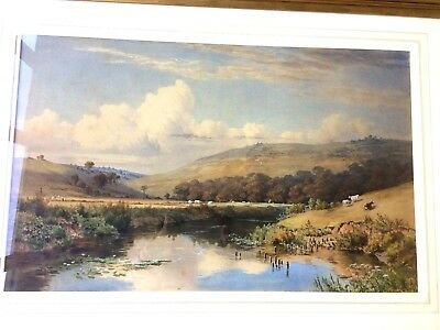Large 19th C watercolour painting Charles Parsons Knight RA ( 1829 - 1897 )