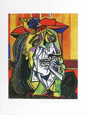 Pablo Picasso WEEPING WOMAN Limited Edition Giclee Estate Signed 20x13